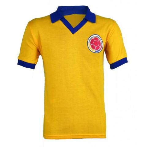 Camisa Retrô da Seleção da Colômbia - Confecção em até 18 dias úteis.