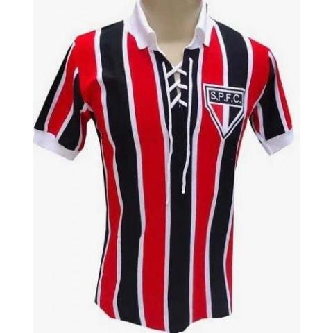Camisa Retrô do São Paulo Cordinha - Confecção em até 18 dias úteis.