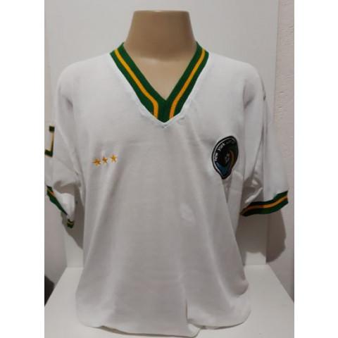 Camisa Retrô do Cosmos branca Pelé - Confecção em até 18 dias úteis.