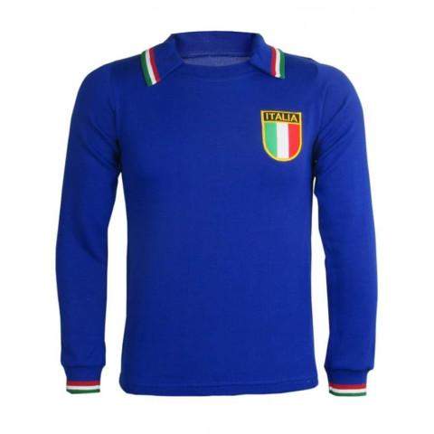 Camisa Retrô da Seleção da Itália 1982 manga longa - Confecção em até 18 dias úteis.