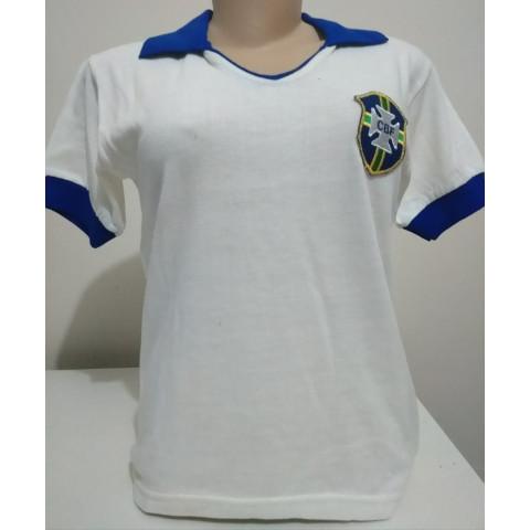 Camisa Retrô da Seleção Brasileira de 1950 Feminina (Baby Look)  - Confecção em até 18 dias úteis.