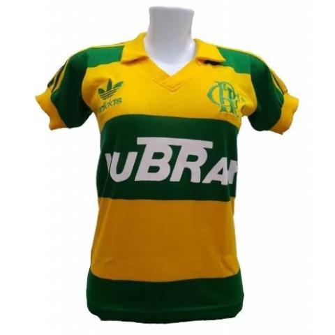 Flamengo Feminina (Baby Look) Lubrax Verde e Amarela - Confecção em até 18 dias úteis.