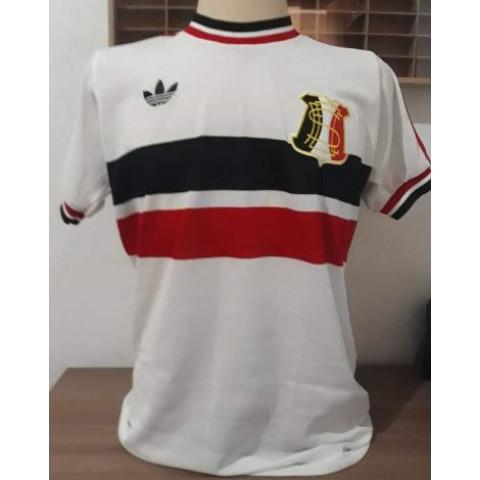 Camisa retrô do Santa Cruz Branca Gola Redonda - Confecção em até 18 dias