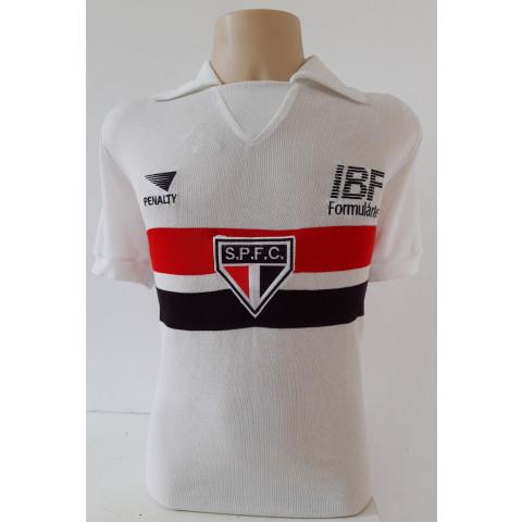 Camisa Retrô do São Paulo IBF - Confecção em até 18 dias úteis.