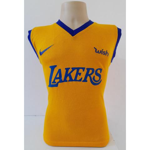 Camisa Retrô do Los Angeles Lakers - Confecção em até 18 dias úteis.