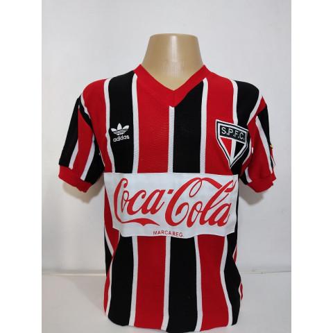 Camisa retrô do São Paulo 1989 Coca Cola Listrada - Confecção em até 18 dias úteis.