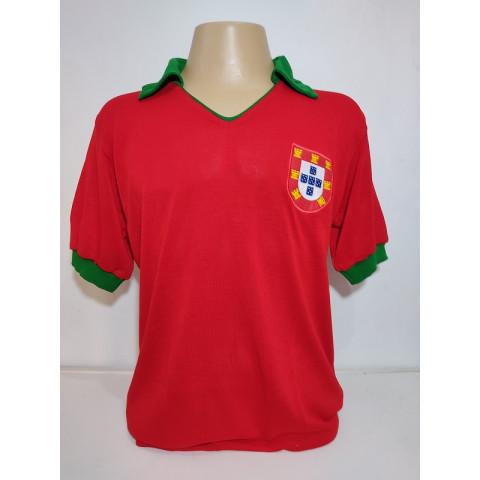 Camisa Retrô da Seleção de Portugal 1972 - Confecção em até 18 dias úteis.