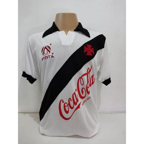Vasco 1989 Branca Finta Coca cola - Confecção em até 18 dias úteis