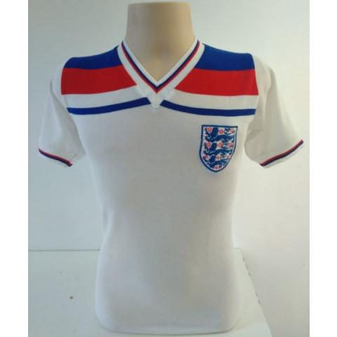 Camisa Retrô da Seleção da Inglaterra branca - Confecção em até 18 dias úteis.