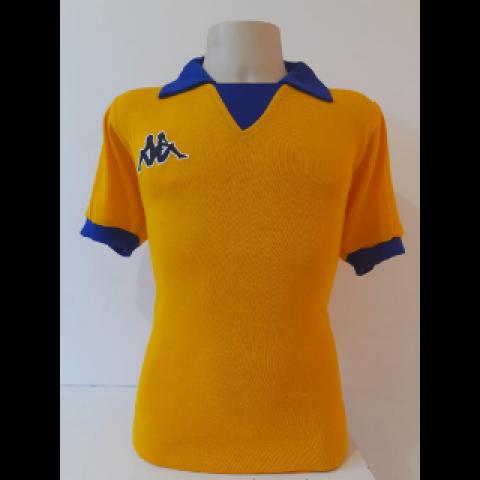 Camisa Retrô da Juventus 1983-1984 amarelo - Confecção em até 18 dias úteis.