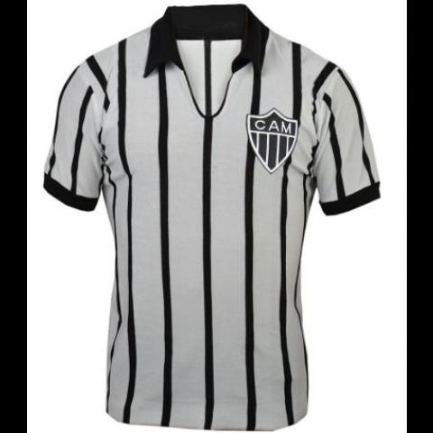 Camisa retrô do Atlético Mineiro Listras Finas - CONFECÇÃO EM ATÉ 18 DIAS ÚTEIS.