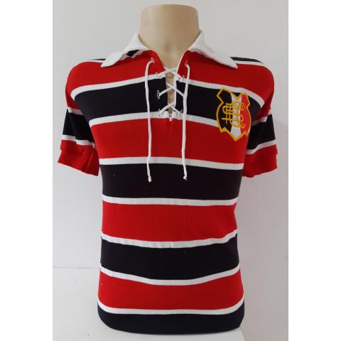 Camisa Retrô do Santa Cruz 1980 com cadarço - Confecção em até 18 dias úteis.