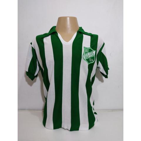 Camisa Retrô do Água Verde Listras Verticais - Confecção em até 18 dias úteis.