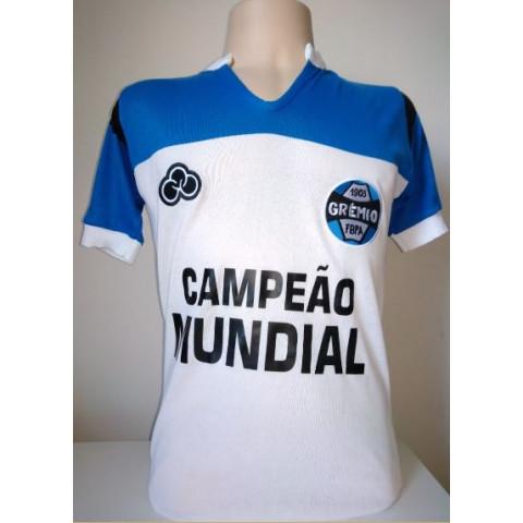 Camisa Retrô do Grêmio Mundial Campeão - Confecção em até 18 dias úteis.