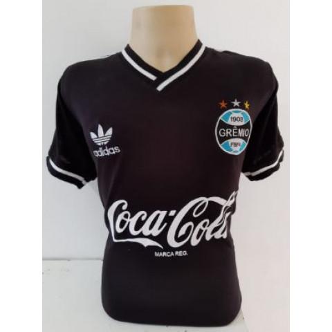 Camisa Retrô do Grêmio Coca Cola Preta - Confecção em até 18 dias úteis