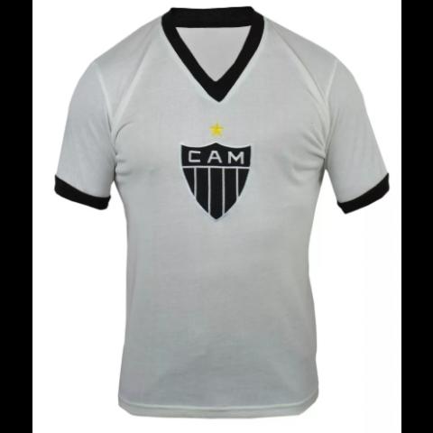 Camisa retrô do Atlético Mineiro Branca - Confecção em até 18 dias