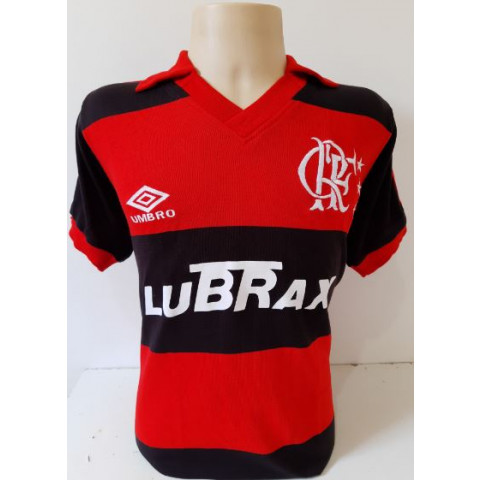 Camisa Retrô do Flamengo Umbro Rubro Negro - Confecção em até 18 dias úteis.