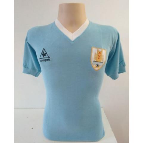 Camisa Retrô da Seleção do Uruguai 1986 - Confecção em até 18 dias úteis.