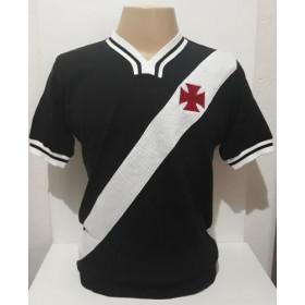 Camisa Retrô do Vasco 1974 preta - Confecção em até 18 dias úteis.