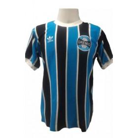 Camisa Retrô do Grêmio 1983 Gola Redonda  - Confecção em até 18 dias úteis.