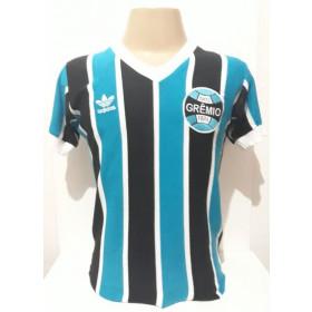 Camisa Retrô do Grêmio 1983 Azul Turquesa- Confecção em até 18 dias úteis.