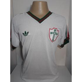 Camisa retrô da Portuguesa 1984 Branca - Confecção em até 18 dias