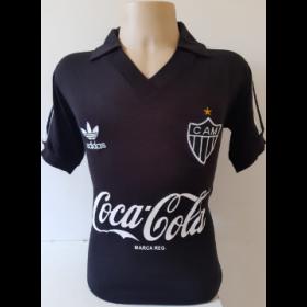 Camisa retrô do Atlético Mineiro Preta Coca Cola  - Confecção em até 18 dias úteis.