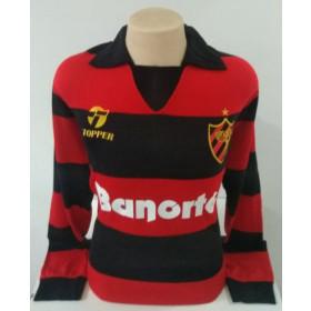 Camisa Retrô do Sport 1988 Libertadores Manga longa - Confecção em até 18 dias úteis.