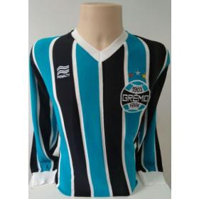 Camisa Retrô do Grêmio 1988 ML Sem coca cola - Confecção em até 18 dias úteis.