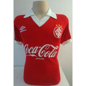 Camisa Retrô Internacional 1989 Vermelho - Confecção em até 18 dias.