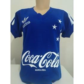 Camisa retrô do Cruzeiro 1990 Feminina (Baby Look) - Confecção em até 18 dias