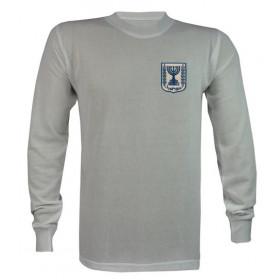 Camisa Retrô da Seleção de Israel 1978 Manga longa - Confecção em até 18 dias úteis.
