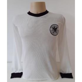 Camisa Retrô da Seleção da Alemanha 1974 Manga longa - Confecção em até 18 dias úteis.