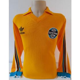 Camisa retrô do Grêmio Goleiro Amarelo - Confecção em até 18 dias uteis