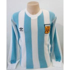 Camisa Retrô da Seleção da Argentina 1978 Adidas Manga longa - Confecção em até 18 dias úteis.