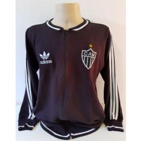 Agasalho retrô Atlético Mineiro Gola Redonda Preto Adidas - Confecção em até 18 dias úteis.