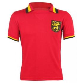 Camisa Retrô da Seleção da Bélgica Vermelho - Confecção em até 18 dias úteis.