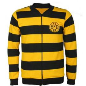 Agasalho Retrô do Borussia Dortmund Listrado - Confecção em até 18 dias úteis.