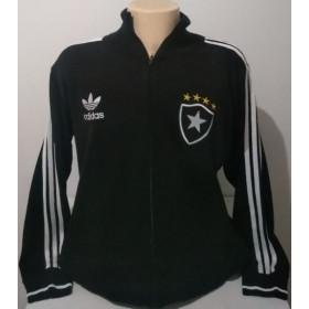 Agasalho Retrô do Botafogo Preto Adidas- Confecção em até 18 dias
