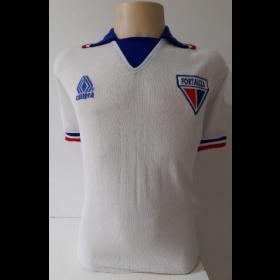 Camisa retrô do Fortaleza Branca da Campeã - Confecção em até 18 dias úteis.