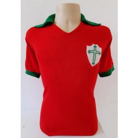 Camisa Retrô da Portuguesa Vermelha década de 60 - Confecção em até 18 dias úteis.
