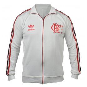 Agasalho retrô do Flamengo Branco - Confecção em até 18 dias úteis.