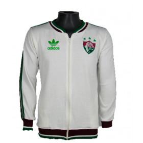 Agasalho Retrô do Fluminense Branca - Confecção em até 18 dias úteis.