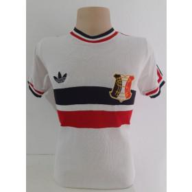 Camisa Retrô do Santa Cruz branca gola redonda - Confecção em até 18 dias úteis.