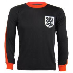 Camisa Retrô da Seleção da Holanda preta manga longa - Confecção em até 18 dias úteis.