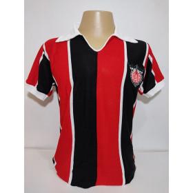 Camisa retrô do Clube Atlético Ferroviario Gola polo listrada - Confecção em até 18 dias utéis