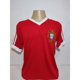 Camisa Retrô da Seleção de Portugal 1986 - Confecção em até 18 dias úteis.