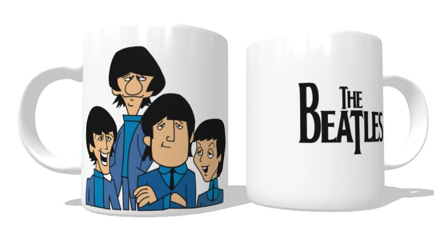 Caneca Beatles Cartoon