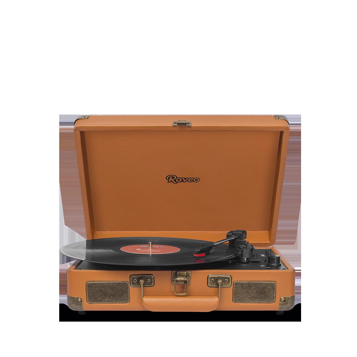 Vitrola Raveo SONETTO com Toca-Discos, Entrada USB, Caramelo
