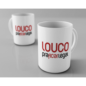 Caneca Humberto Gessinger - Louco Pra Ficar Legal - LOGO